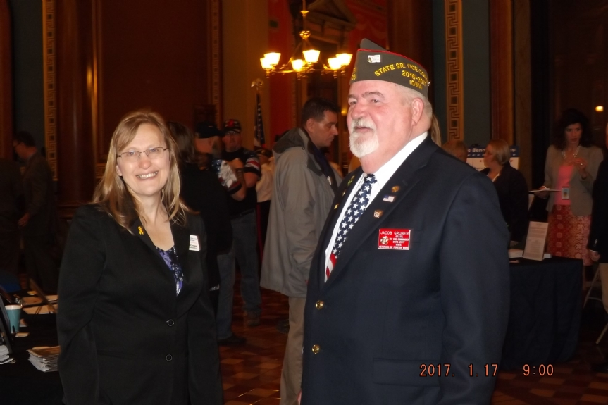 Jake Gruber, Sr Vice Commander, Department of Iowa and a member of VFW Post 738
