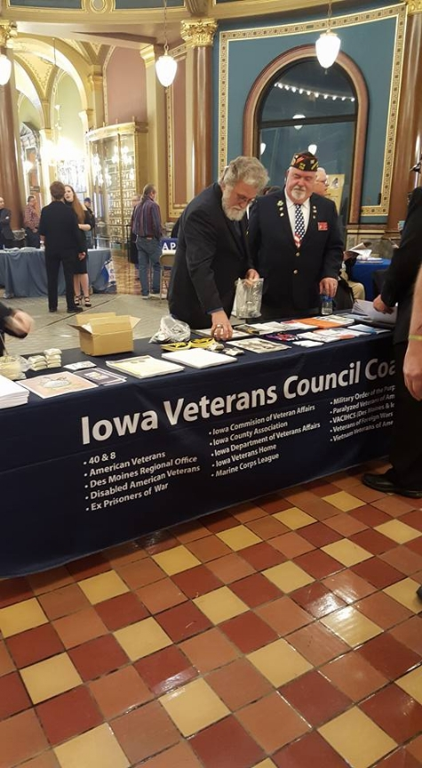 Jake Gruber, Sr Vice Commander for the Department of Iowa and a member of VFW Post 738 at Vets Day on the Hill